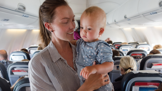 Mom pens open letter to rude man on flight complaining about her crying toddler.