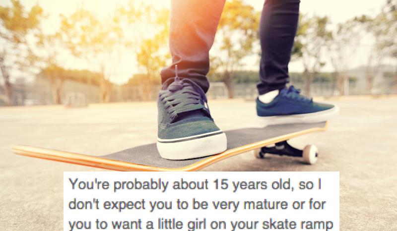 Mom writes open letter to teenage skater boy who wasn't a sexist jerk to her daughter.