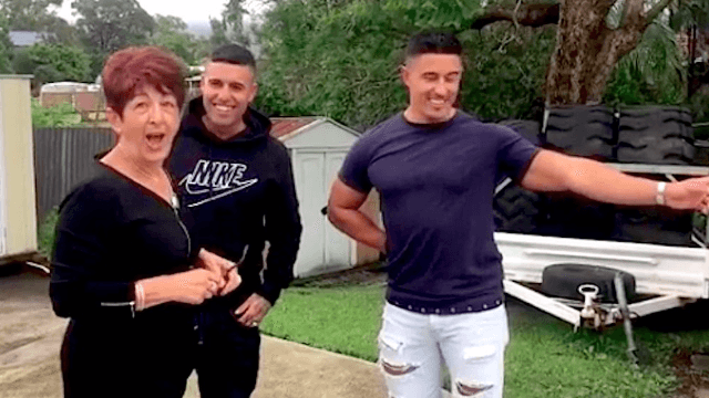 Adorable mom can't handle it when sons surprise her with 'a little gift' worth a year's salary.