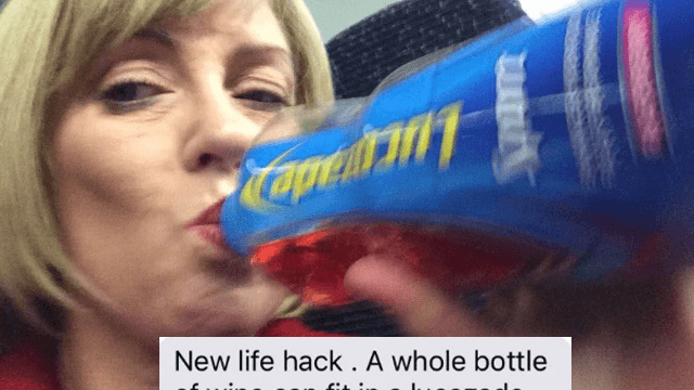 Mom texts daughter her wine hack, goes viral for the simple, hilarious genius.