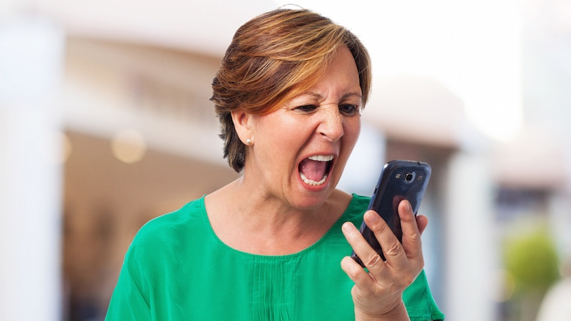 Foul-mouthed mom refuses to believe she has the wrong number no matter what this guy does.