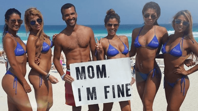 Guy too lazy to call his mom while traveling takes a bunch of Instagrams on his account 'momimfine' instead.