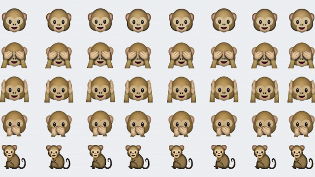 A passionate debate about monkey emojis has taken over Twitter.