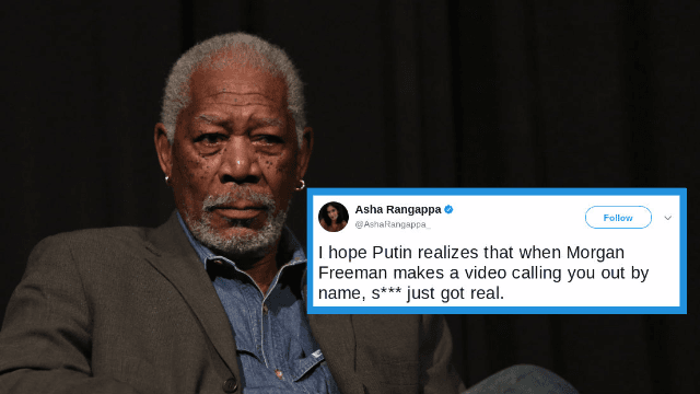 Morgan Freeman has become a national enemy in Russia, because of his best quality.