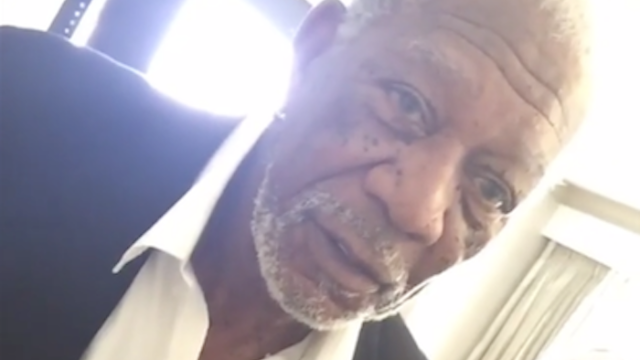Someone tried to introduce Morgan Freeman to Snapchat and he was not having it.