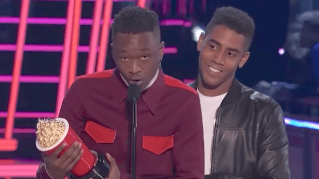 'Moonlight' stars say MTV Movie Award for same-sex kiss is 'for those who feel like the others.'