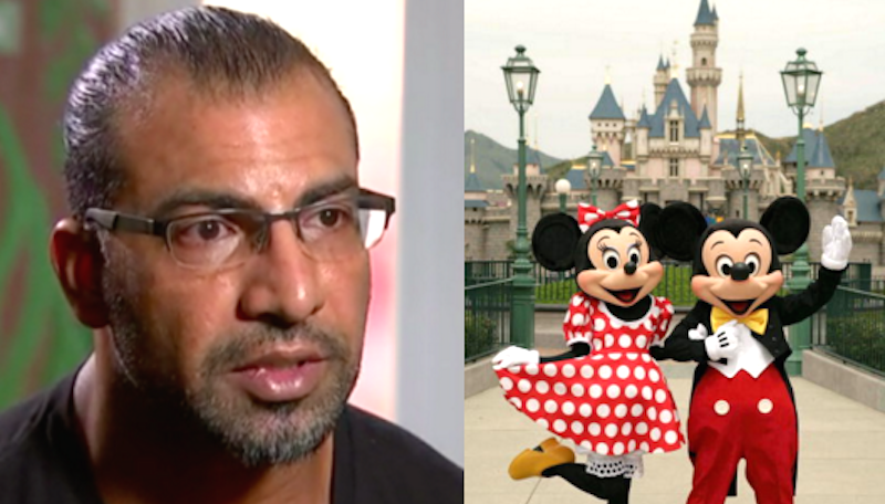 Muslim family barred from flying to Disneyland just for being a Muslim family.