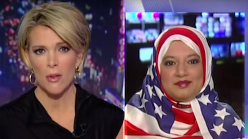 Muslim woman shuts down Trump staffer while wearing super boss hijab.