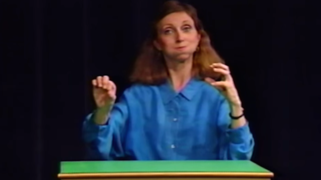 Creative genius turns 90s sign language tapes into a music video about dick jokes.