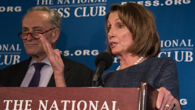 Your parents Nancy Pelosi and Chuck Schumer responding to Trump's wall speech became an instant meme.