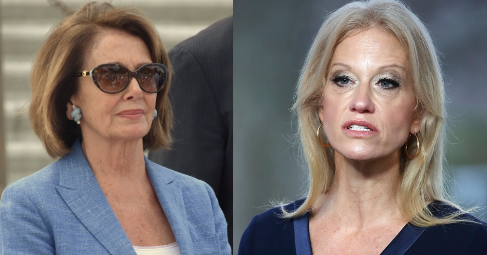 Kellyanne Conway, Trump's puppet, is accusing Pelosi of sexism because irony is dead.
