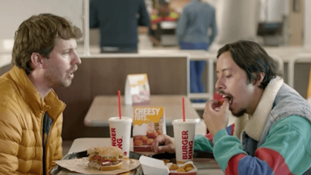 The 'Napoleon Dynamite' stars reunite for a cheesy snack.