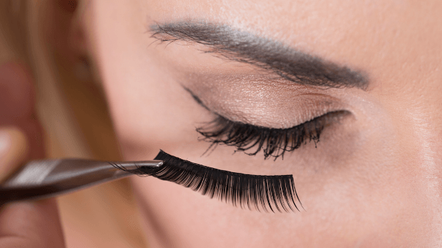 People are wearing their girlfriends' used fake eyelashes for the craziest reason.
