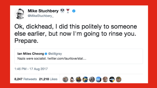 Dude tweets 'Nazis were socialist,' gets hilariously schooled by historian.