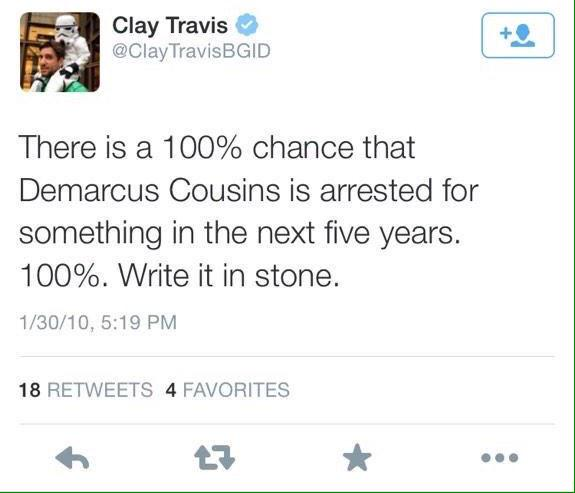 """NBA player waits 5 years to call out a-hole journalist who """"100% guaranteed"""" he'd be arrested by then."""