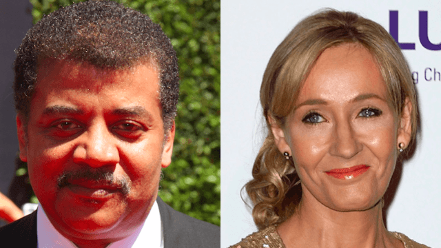 Magic and science unite! J.K. Rowling & Neil deGrasse Tyson team up to roast Donald Trump online.