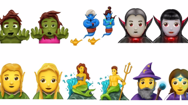 The new emoji update includes mermaids, zombies and dinosaurs. Oh my!