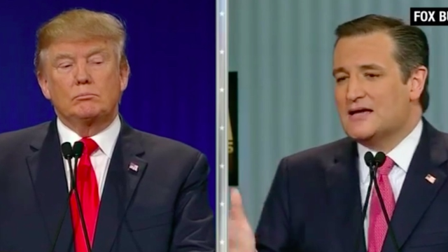 """Donald Trump and Ted Cruz argue over """"New York values."""" It doesn't sound positive."""