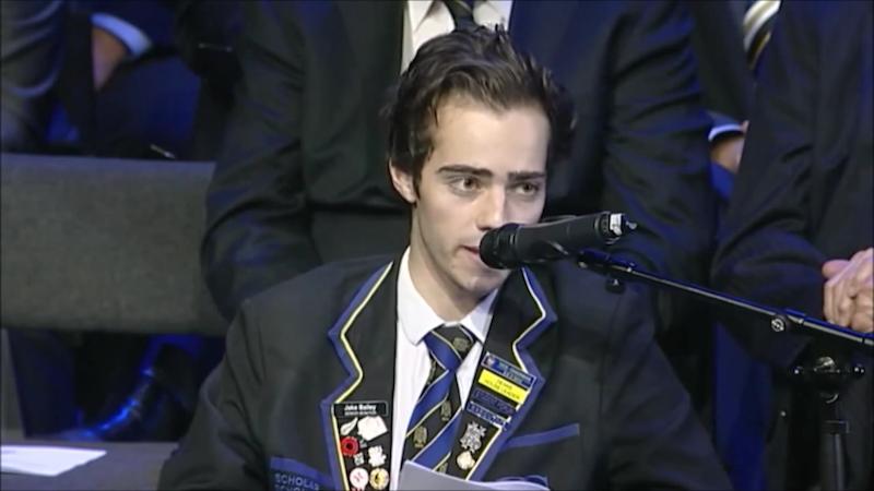 A high school senior just found out he has cancer and gave this moving speech.