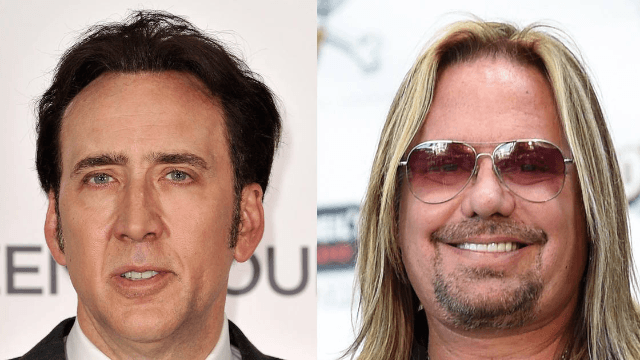 Nic Cage and Vince Neil got into a brawl in Las Vegas, where fights between those two belong.