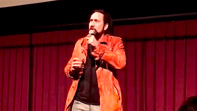 Nicolas Cage did the most Nicolas Cage thing ever and crash his own film festival.