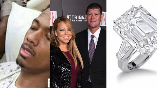 Nick Cannon is taking news of ex-wife Mariah Carey's 35-carat engagement ring quite well.