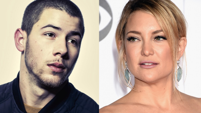 Nick Jonas evades question about whether he's sleeping with Kate Hudson in super awkward way.