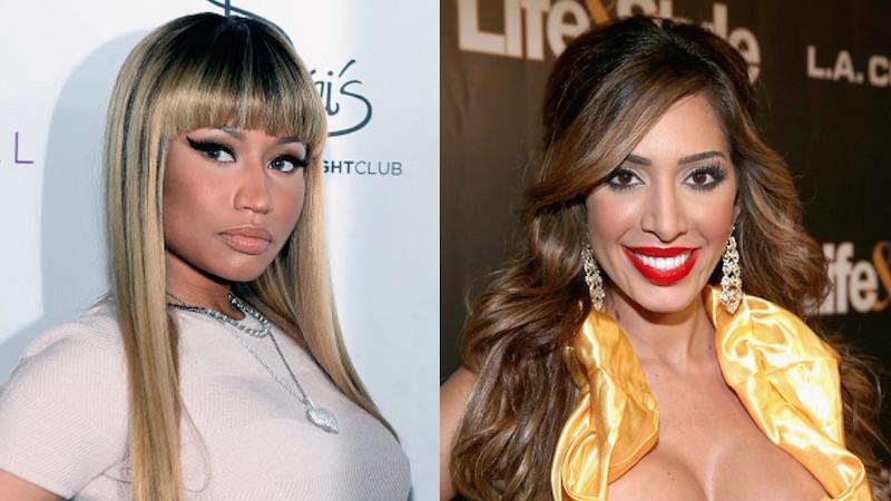 Bored Nicki Minaj starts ugly Twitter feud with Farrah Abraham for some reason.