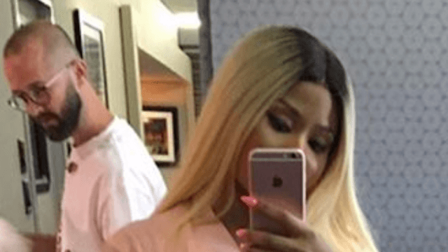 Nicki Minaj came inches away from flashing the whole world on Instagram.