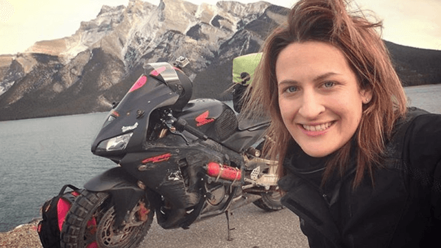 Motorcyclist's ex told her she 'couldn't handle' a trip around the world. She proved him wrong.