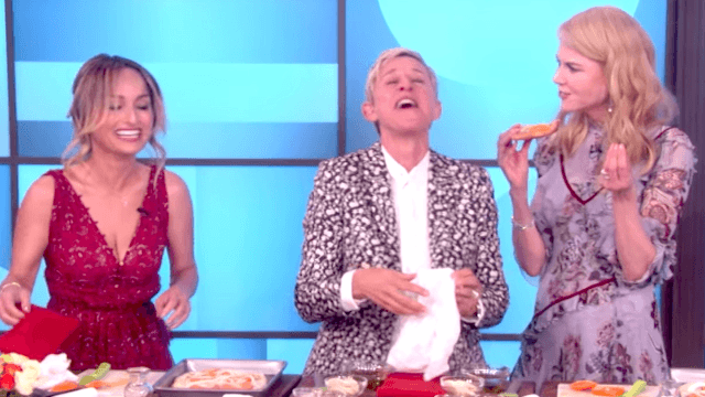 Nicole Kidman insulted Giada de Laurentiis' pizza on 'Ellen' and then they all lost it.