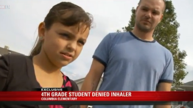 A school took away a coughing 9-year-old's inhaler, and they feel good about that decision.