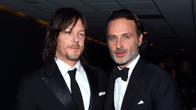 Norman Reedus pranked Andrew Lincoln in the most dastardly way—with glitter.