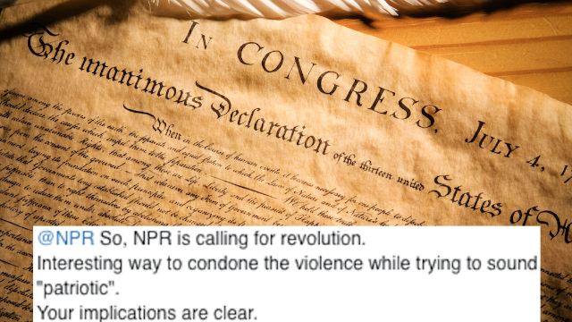 NPR tweeting the Declaration of Independence confused a lot of Trump supporters. Like, A LOT.