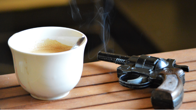 The NRA killed free coffee for staffers because of money troubles. People are sending thoughts and prayers.