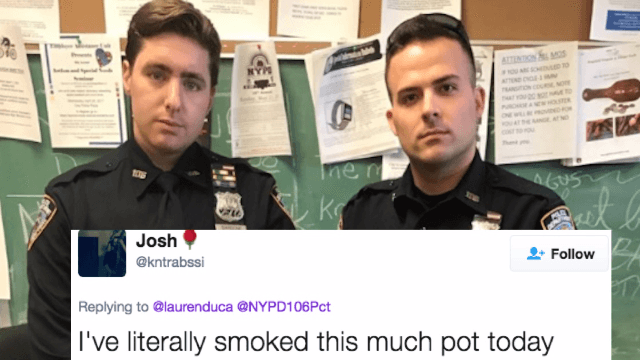 The NYPD bragged online about locking up a weed dealer. Twitter was not impressed.