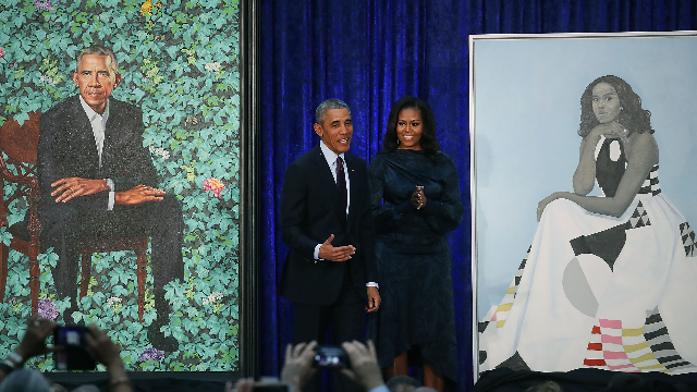 The Obamas' official portraits were just unveiled and the jokes are art.
