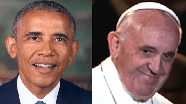 Obama's photographer trolls Trump's pope visit with a happier, holier photo.