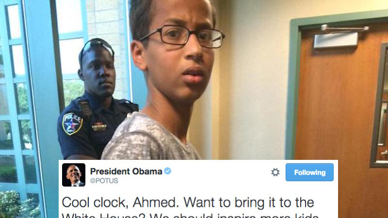 Obama responded to the kid arrested for building a clock ...  Obama