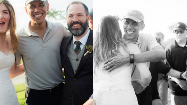 Obama delayed a wedding so he could golf. It made the bride and groom's day.