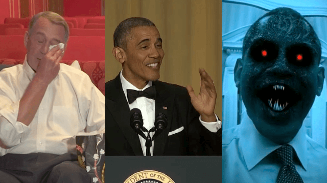 Here's Obama's complete comedy routine from the 2016 White House Correspondents Dinner.