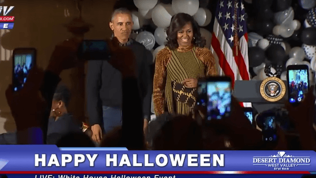 America's 'cool parents' Barack and Michelle dance to 'Thriller' at White House Halloween event.