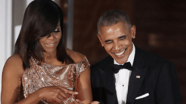 Here's what happens when you invite Barack and Michelle Obama to your wedding.