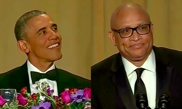 President Obama and Larry Wilmore summing up the night.