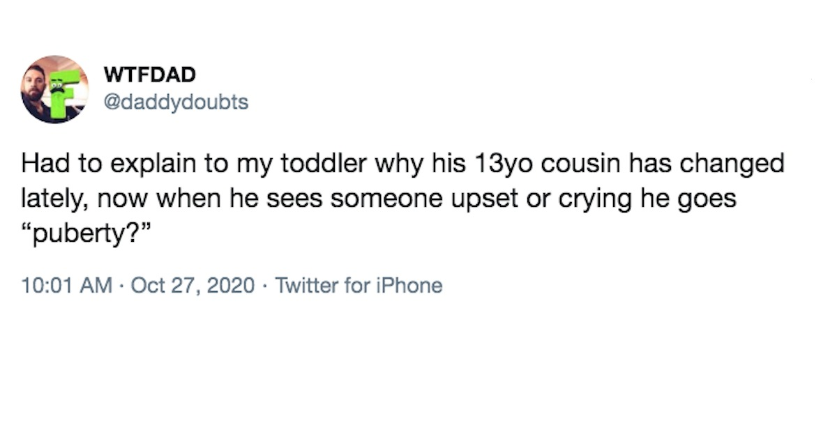 40 of the funniest tweets from parents in the month of October.