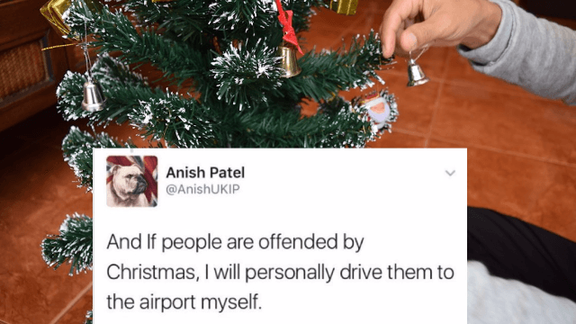 A guy threatened 'people offended by Christmas' and it blew up in his face.
