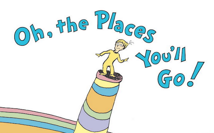 """""""Oh, the Places You'll Go!"""" vs. what post-graduation life will really be like."""