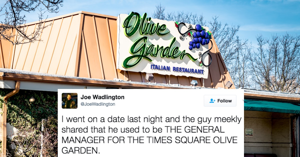 Former Manager Of The Worldu0027s Largest Olive Garden Shares His Craziest  Stories And Secrets. | Someecards Food U0026 Drink