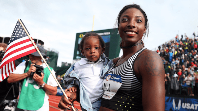 7 super moms who are competing in the Olympics this year.