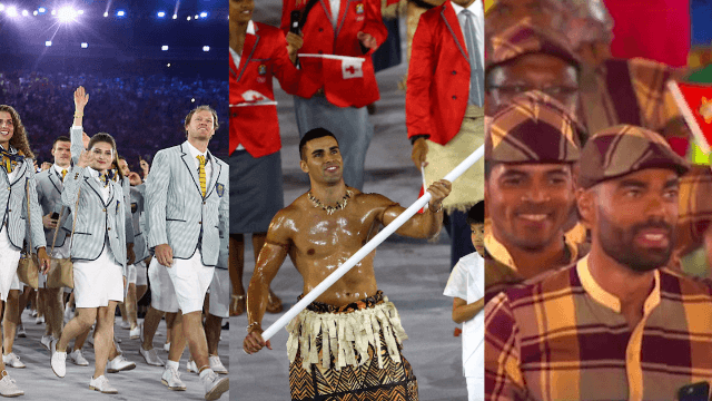 20 of the most delightful national outfits from the 2016 Rio Olympics Opening Ceremony.